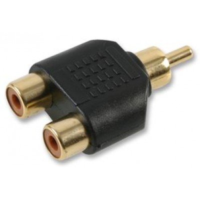 2 to 1 phono adapter gold for Sony BNC adapter cable