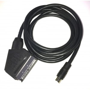 8pin Mini DIN to EuroSCART PACKAPUNCH cable for RGB modified consoles