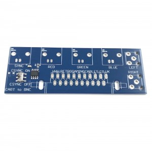 Female SCART to BNC breakout board
