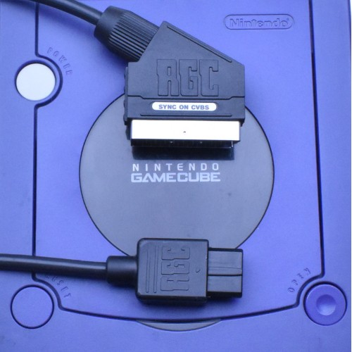 Nintendo GameCube GC RGB SCART cable (PAL) PACKAPUNCH PRO