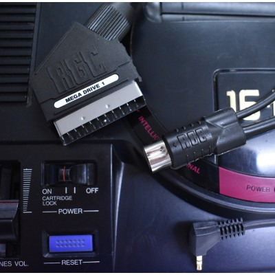 Sega Mega Drive 1 / Genesis 1 RGB SCART PACKAPUNCH PRO CABLE WITH STEREO SOUND