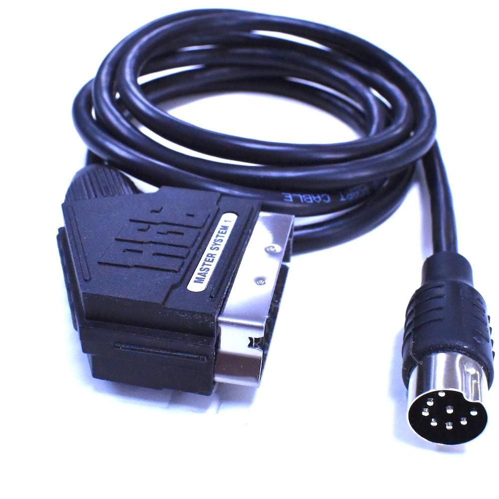 C/âble p/éritel RGB AV TV avec broche C pour Master System Mega Drive 1 Sega Genesis 1 1,8 m