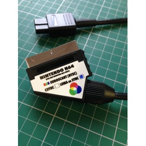 Nintendo N64 RGB SCART cable for RGB modified NTSC console Sync on Luma