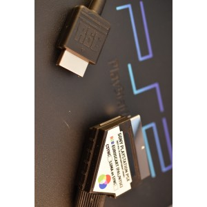 PlayStation 1 2 3 RGB SCART cable lead sync on luma
