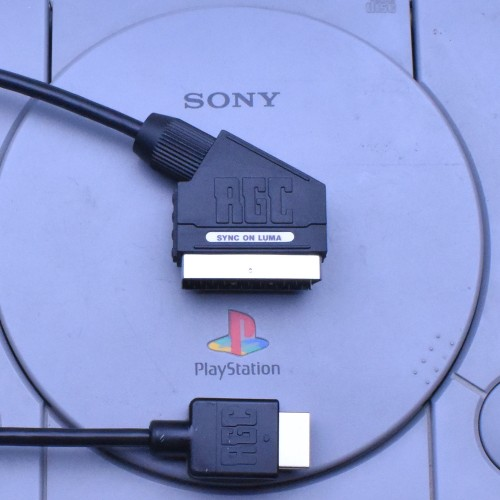 sony playstation 1 ps ps1 ps2 ps3 psx rgb scart cable. Black Bedroom Furniture Sets. Home Design Ideas