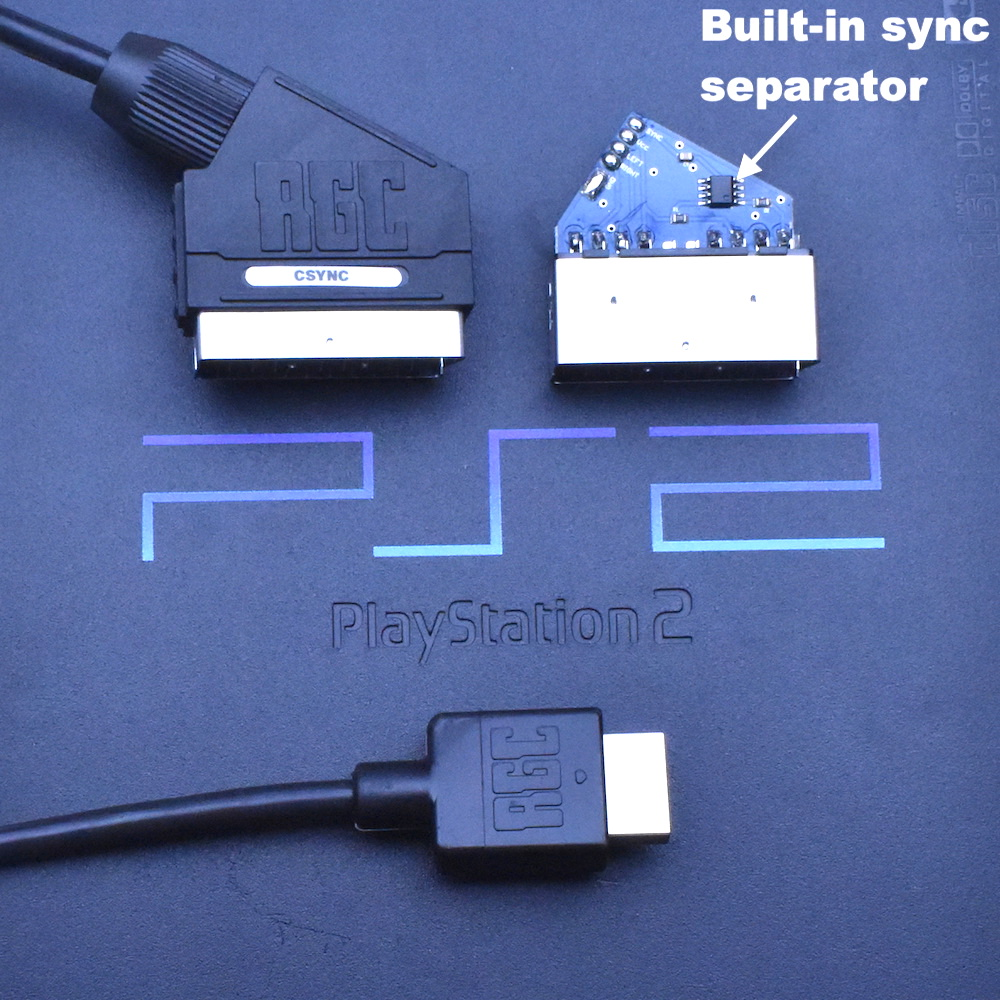 Sony Playstation 2 Ps2 Psx Rgb Scart Cable To Usb Wiring Diagram Wired For Composite Sync Csync