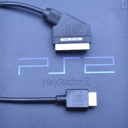 PlayStation 2 PS2 RGB SCART PACKAPUNCH cable sync on luma