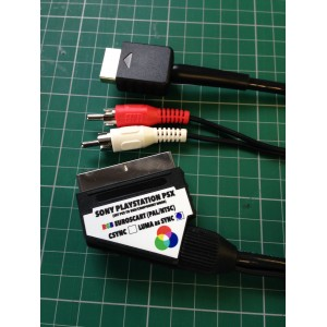 Sony Playstation PS1 PS2 RGB SCART  cable + RCA sound