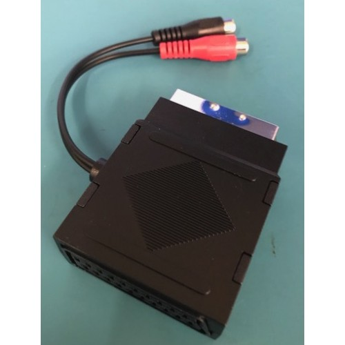 Audio breakout cable box for SCART to YUV converters