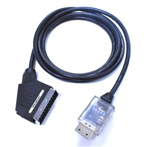 Sega Dreamcast PACKAPUNCH RGB 480p SCART cable