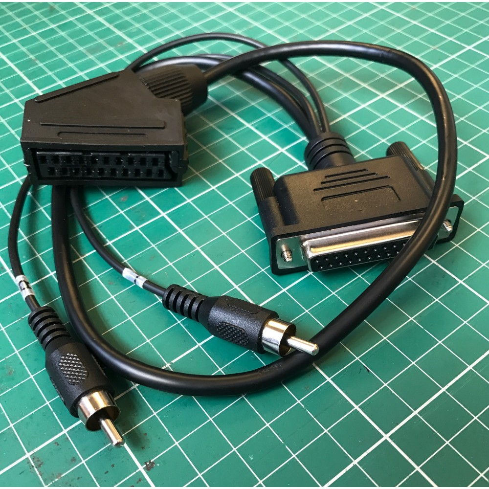 EuroSCART to DB25 adapter cable