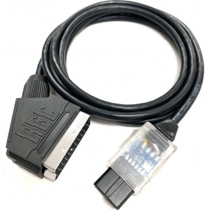 Universal Super Nintendo PAL/NTSC GameCube PAL PACKAPUNCH RGB SCART cable
