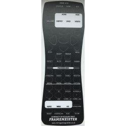 XRGB Mini Framemeister English Remote Translation Overlay lexan - black