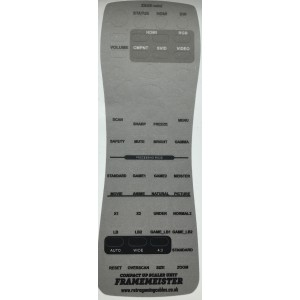 XRGB Mini Framemeister English Remote Translation Overlay lexan - silver