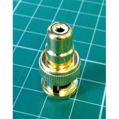 Composite video BNC to phono RCA adapter gold for Sony PVM monitor