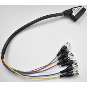 SCART to 4 x BNC adapter cable plus built in sync separator
