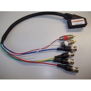 SCART to BNC adapter cable plus built in sync separator