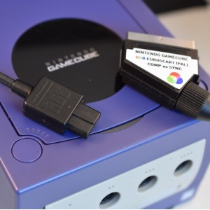 Nintendo GameCube GC RGB SCART (PAL) wired for composite sync CSYNC