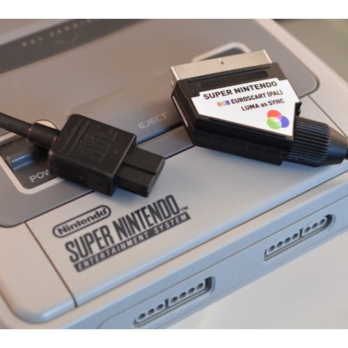 Nintendo Super NES RGB SCART cable SYNC on LUMA for PAL console