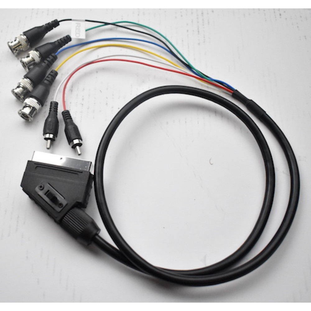 Scart Adapter Scart male to 4x RCA female RGB Composite
