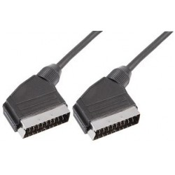 Male SCART Péritel to male SCART Péritel male 21 pin lead cable 0.75m