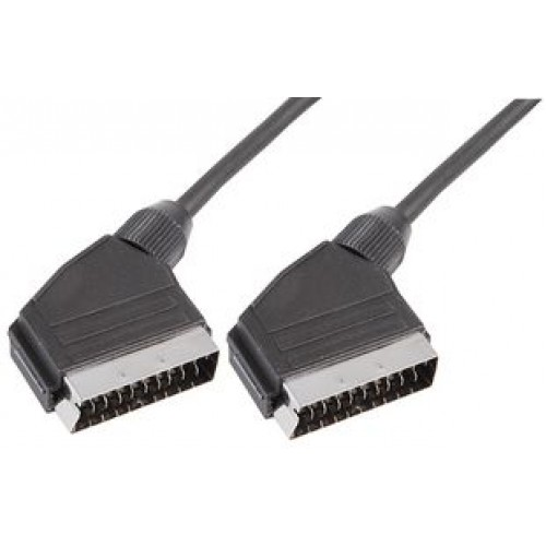 Male SCART Péritel to male SCART Péritel male 21 pin lead cable 1m