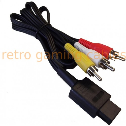 Nintendo N64 Gamecube SNES composite AV cable