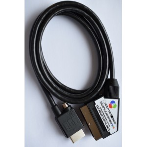 PlayStation 1 RGB SCART Composite Sync CSYNC cable with light gun port